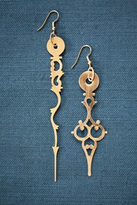 clock hand earings