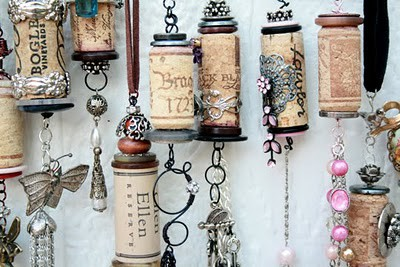wine cork ornaments. Black Bedroom Furniture Sets. Home Design Ideas